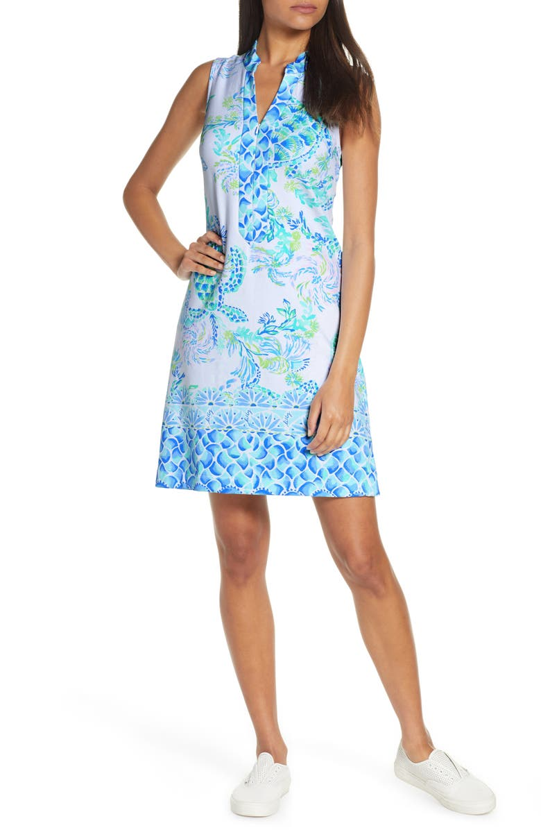 LILLY PULITZER<SUP>®</SUP> Larsen Shift Dress, Main, color, RESORT WHITE ISLAND RIDE