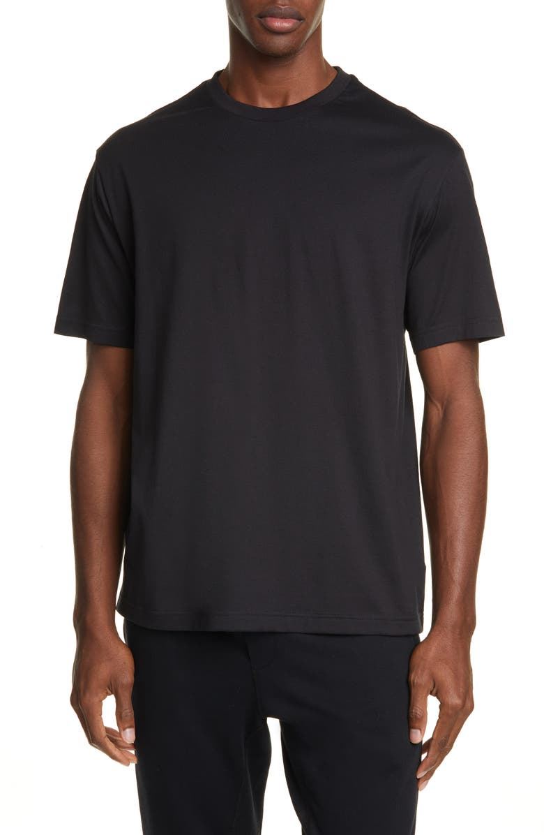 Y-3 Toketa Floral Print T-Shirt, Main, color, BLACK