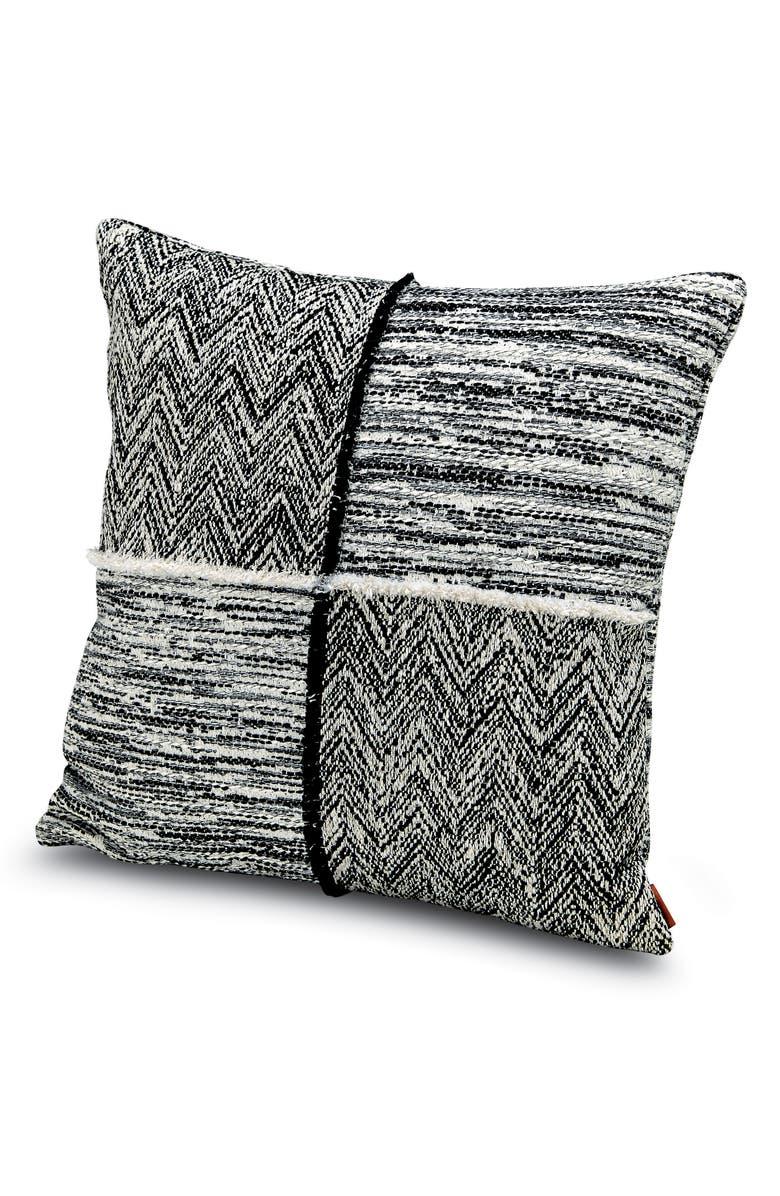 MISSONIHOME Wattens Patchwork Chevron Accent Pillow, Main, color, 001