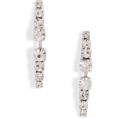 Cristabelle Mirror Linear Button Earrings