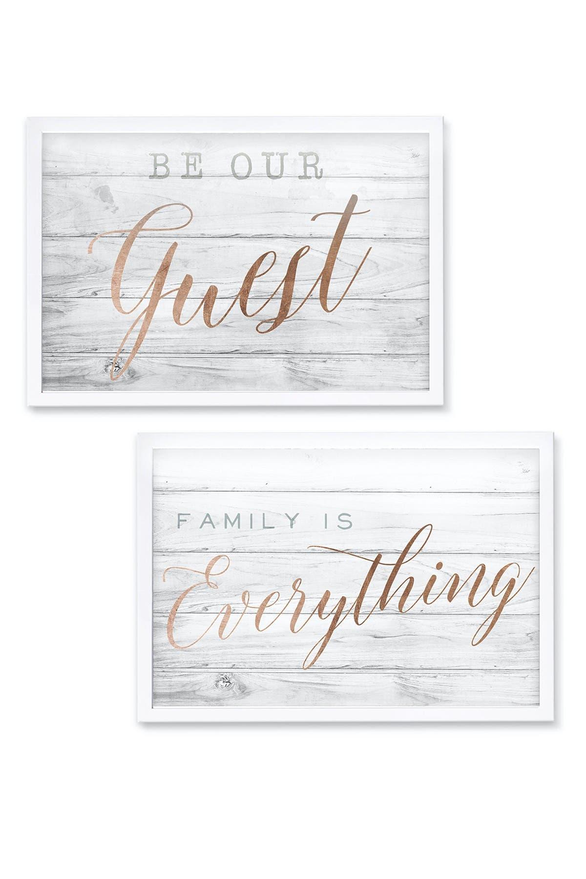 Image of Wynwood Studio Birch Typography Framed Wall Art Set - Set of 2