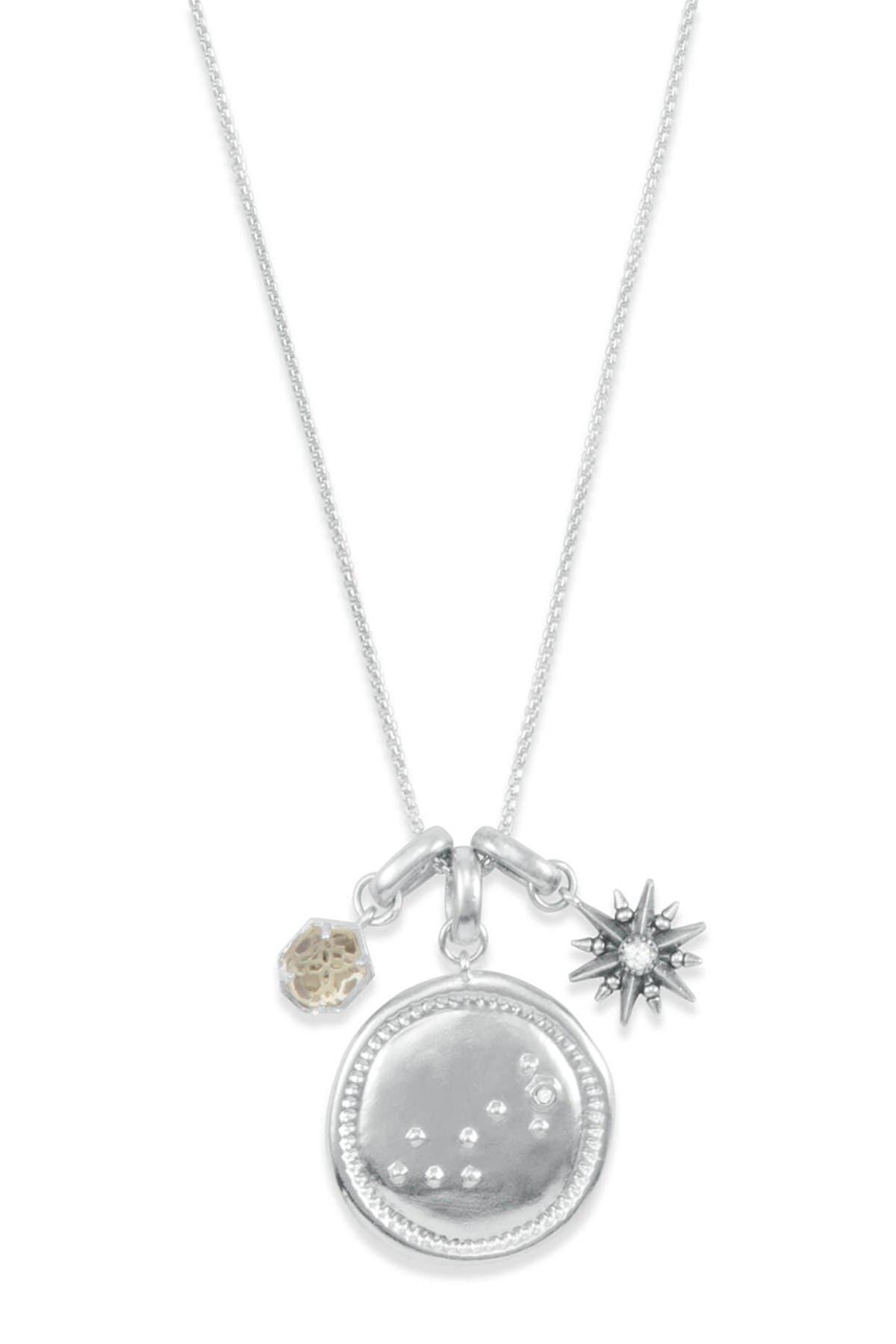 Image of Kendra Scott Rhodium Plated Scorpio Charm Necklace