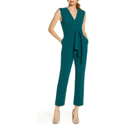 Harlyn Tie Front Jumpsuit, Green
