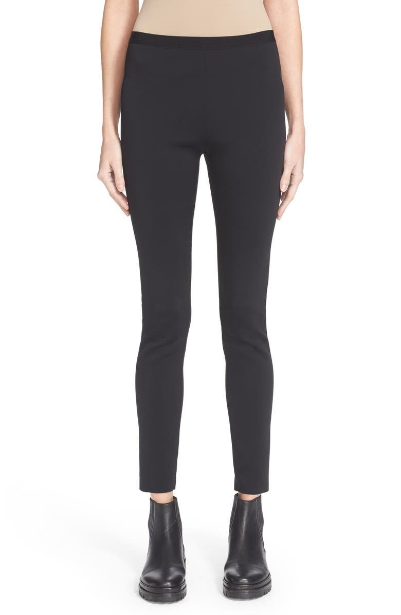 HELMUT LANG Scuba Leggings, Main, color, BLACK
