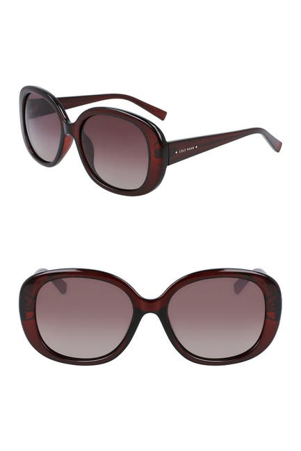 Image of Cole Haan 54mm Classic Oval Sunglasses