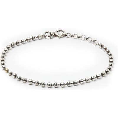 Title Of Work Sterling Silver Ball Chain Bracelet