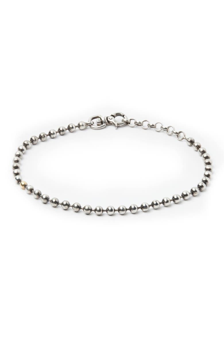 TITLE OF WORK Sterling Silver Ball Chain Bracelet, Main, color, 040