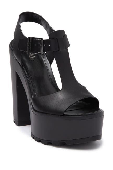 Image of MICHAEL Michael Kors Sinead Leather Heel Sandal