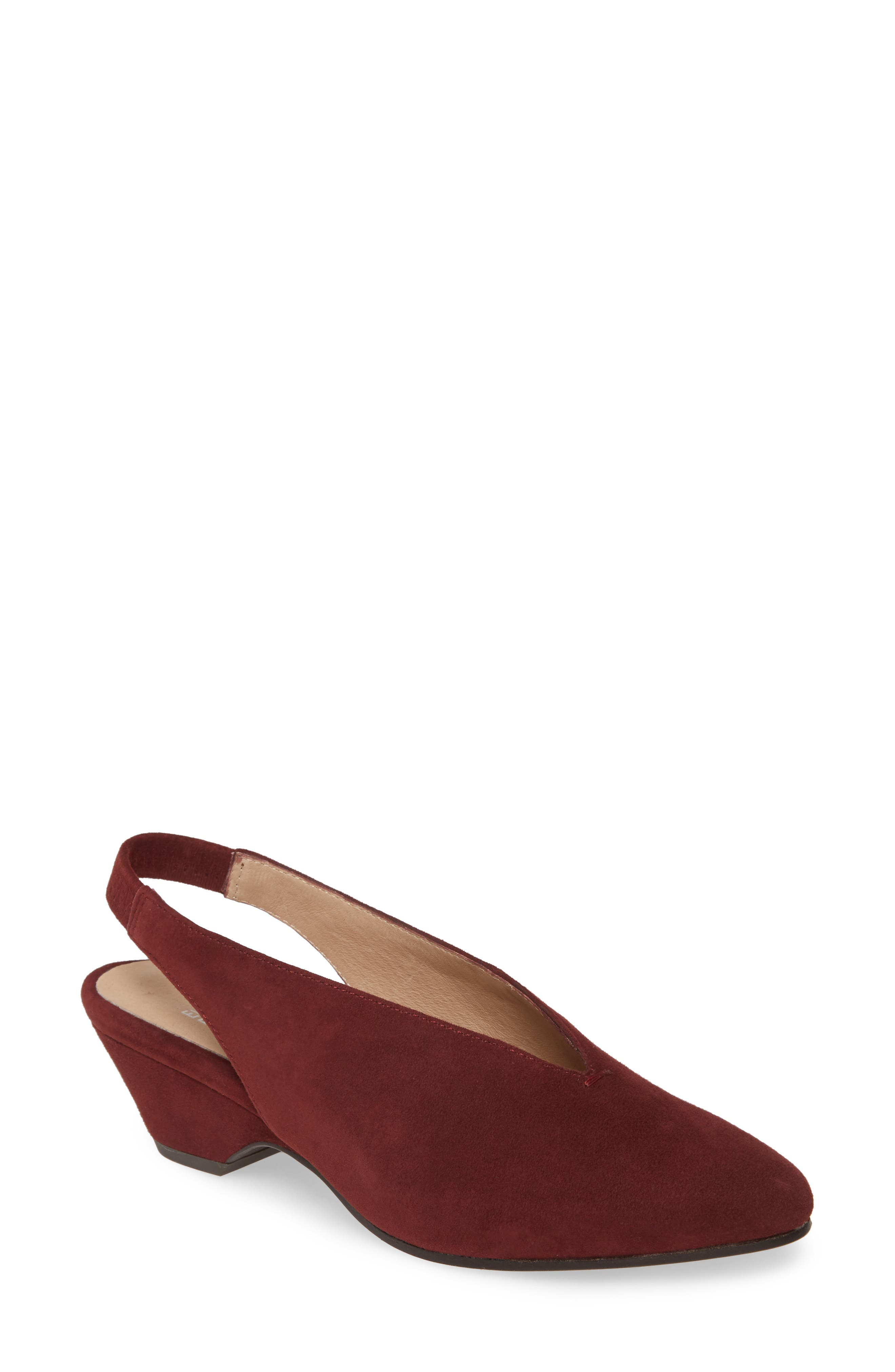 1940s Style Shoes, 40s Shoes Womens Eileen Fisher Gatwick Slingback Pump Size 6.5 M - Red $77.98 AT vintagedancer.com