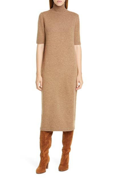 Lafayette 148 Dresses WOOL & CASHMERE MIDI SWEATER DRESS