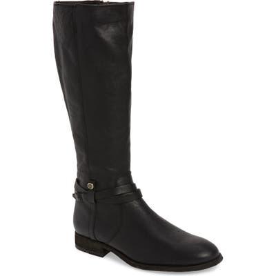 Frye Melissa Belted Knee-High Riding Boot, Regular Calf- Black