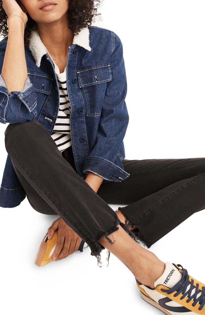 MADEWELL Cali Chewed Hem Demi Bootcut Jeans, Main, color, 004