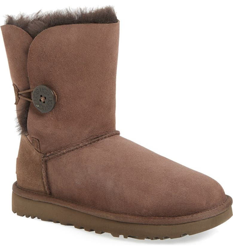 UGG<SUP>®</SUP> Bailey Button II Boot, Main, color, CHOCOLATE SUEDE