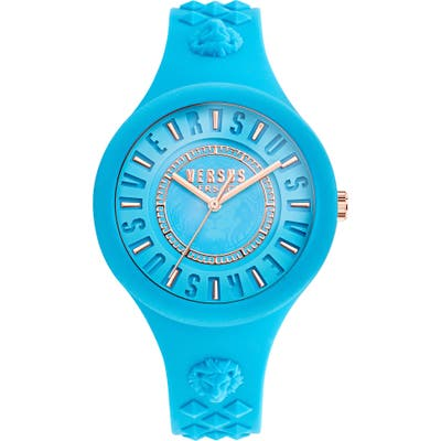 Versus By Versace Fire Island Silicone Strap Watch,