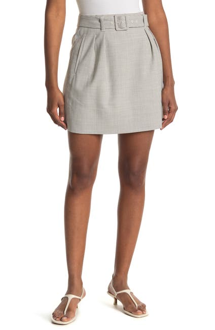 Image of CLUB MONACO Houndstooth Belted Mini Skirt