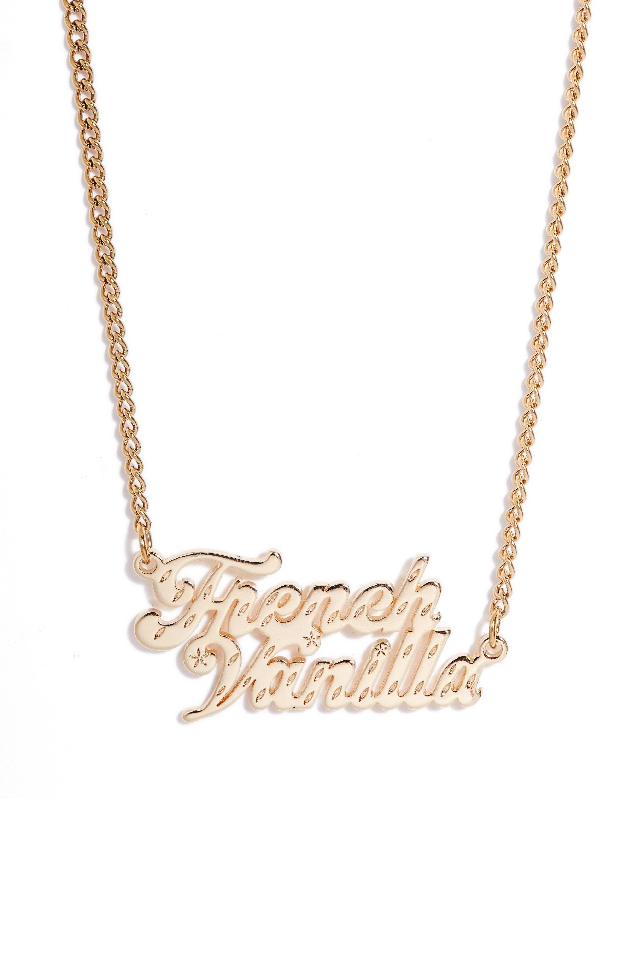 French Vanilla Ice Cream Pendant Necklace