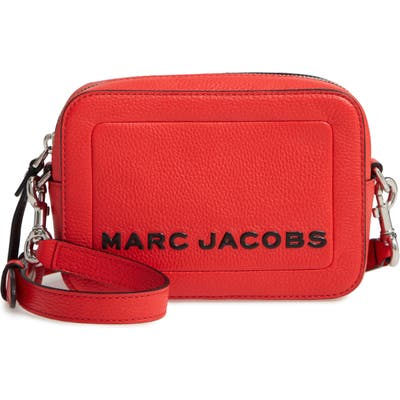 Marc Jacobs The Box Leather Crossbody Bag - Red