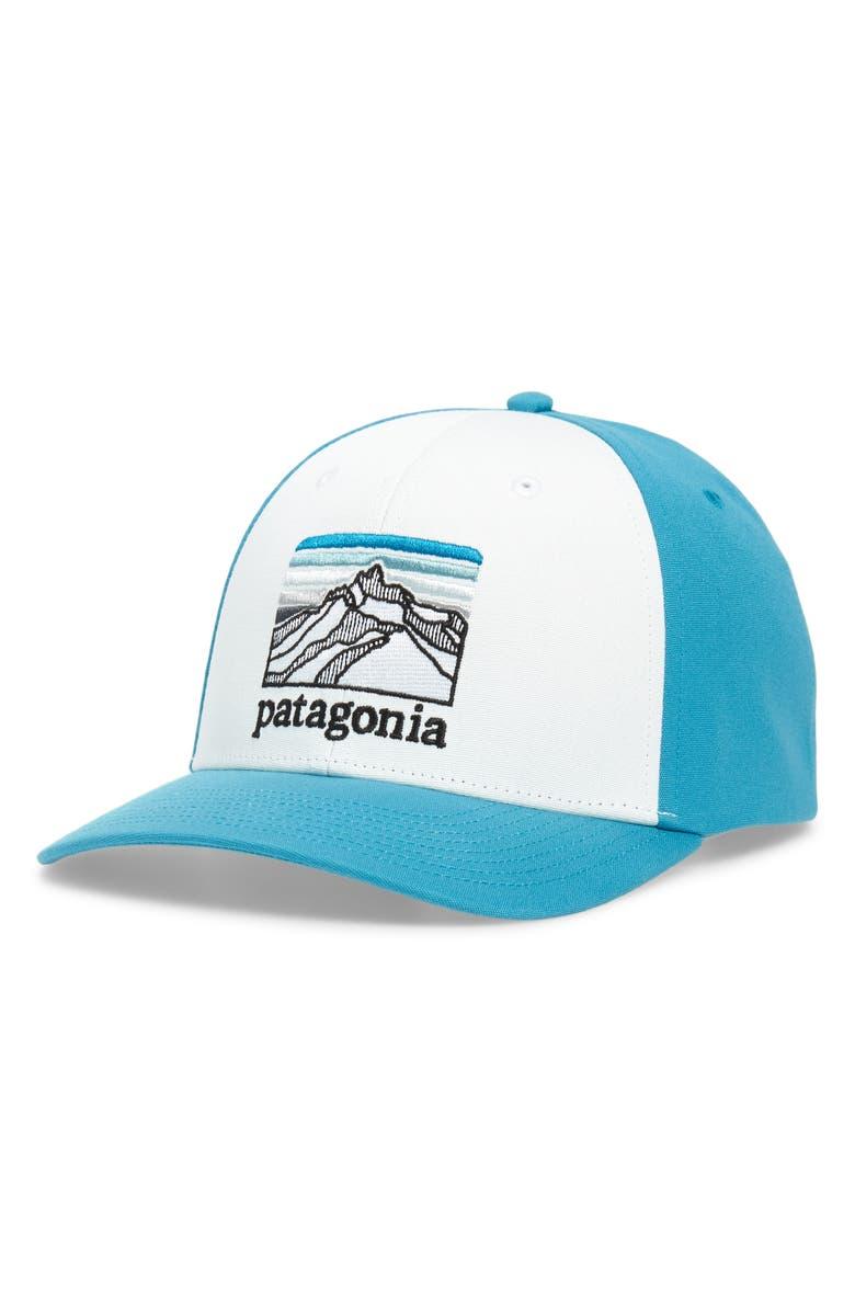 PATAGONIA Line Logo Ridge Roger That Baseball Cap, Main, color, WHITE