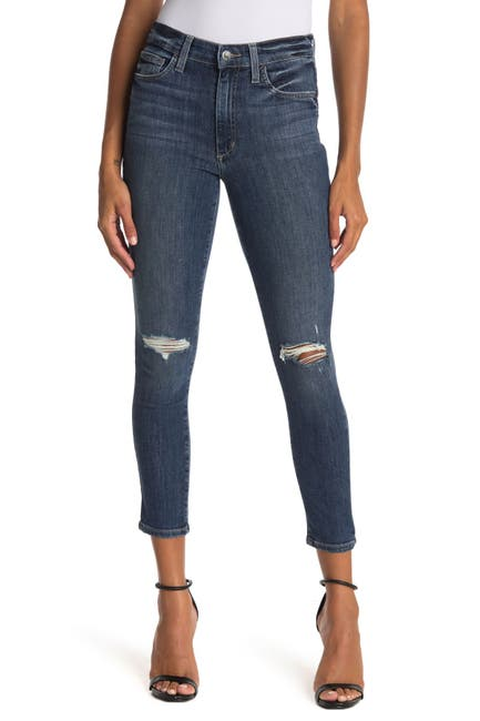 Image of Joe's Jeans Distressed High Rise Crop Skinny Jeans