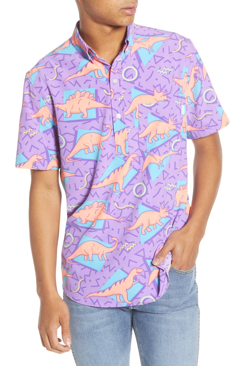 CHUBBIES Jurrasick Print Shirt, Main, color, DINO SHAPES