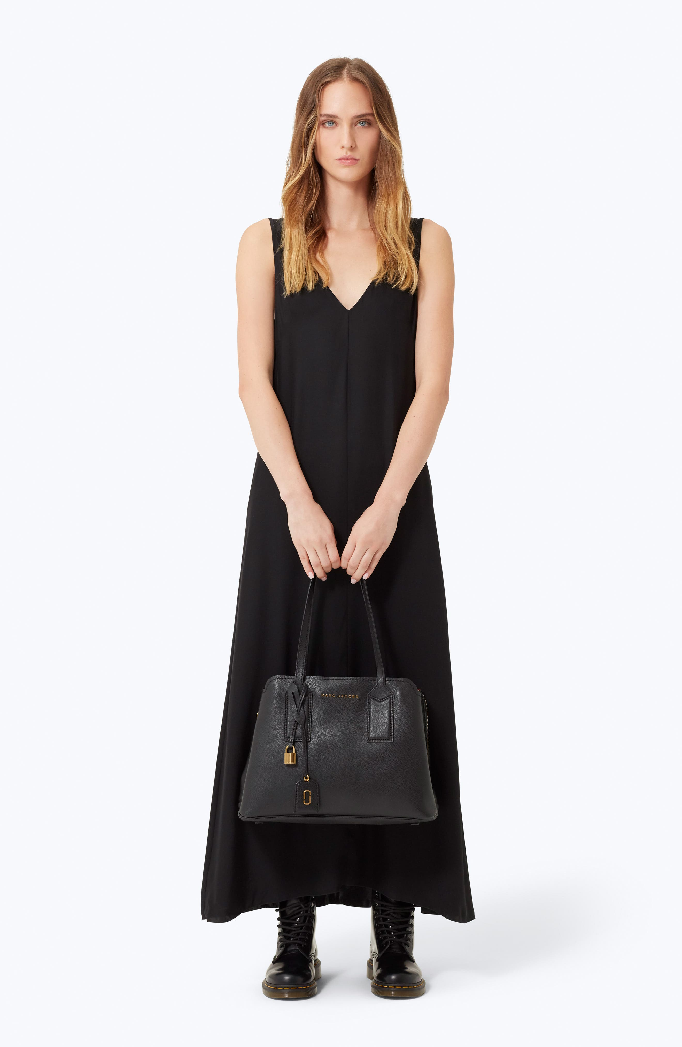 ,                             The Editor Leather Tote,                             Alternate thumbnail 2, color,                             BLACK