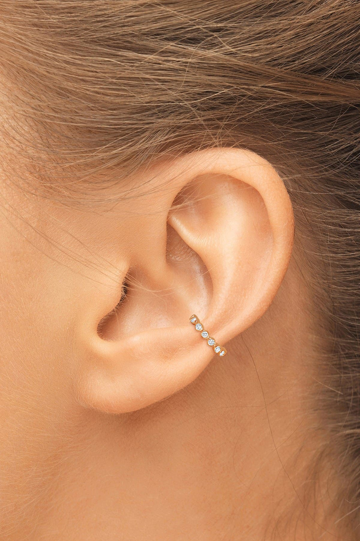 Image of CENTRAL PARK JEWELRY Single Row Bezel Cuff Earring