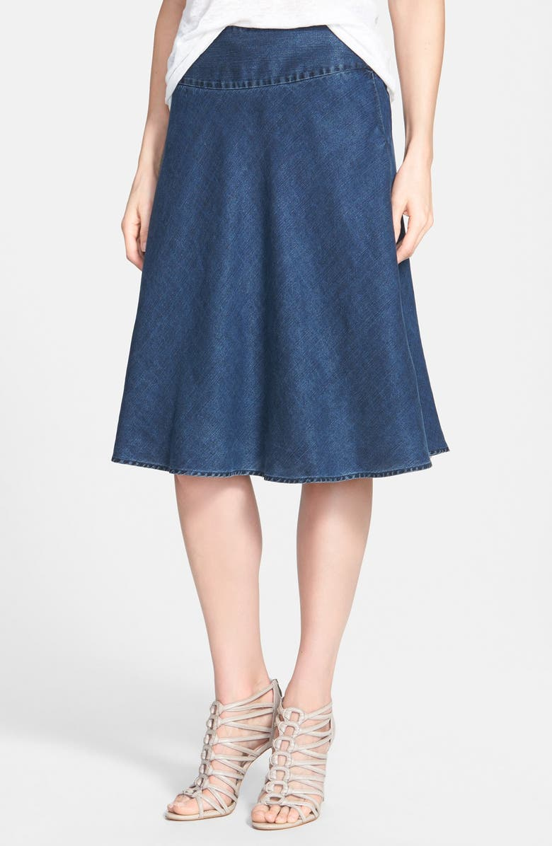 NIC+ZOE 'Summer Fling' Flirt Skirt, Main, color, INDIGO
