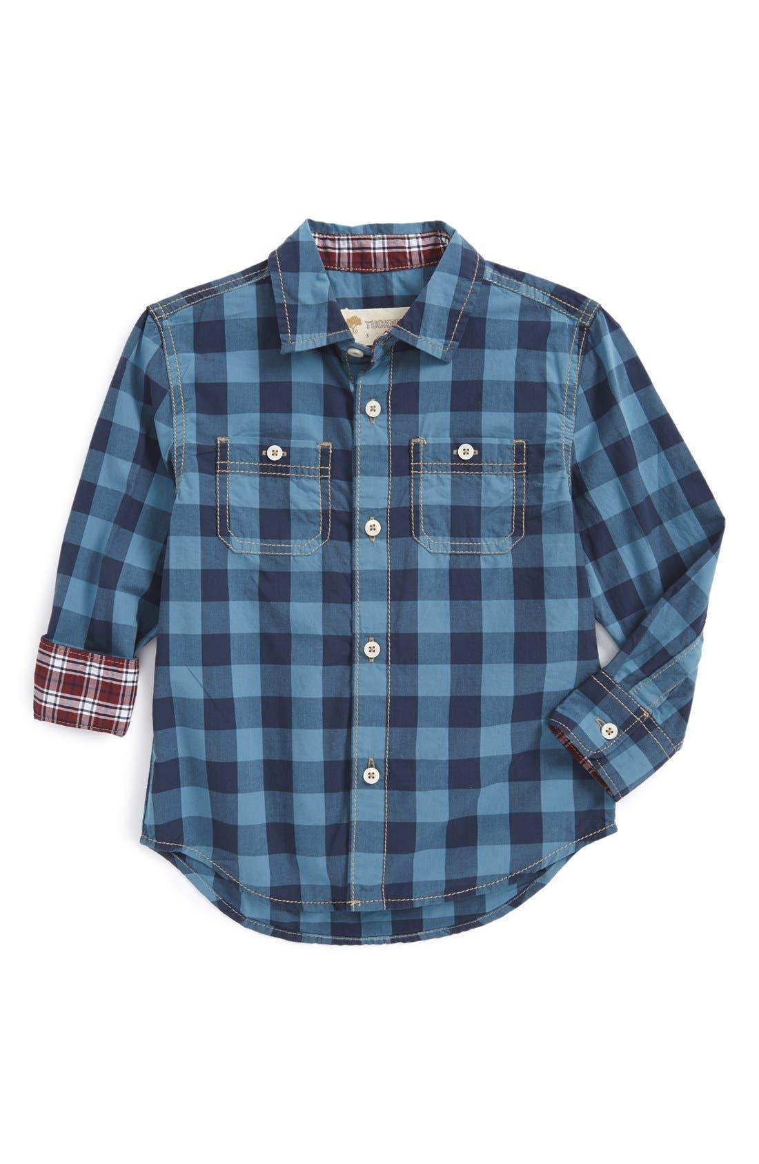 ,                             'Photo' Buffalo Plaid Woven Shirt,                             Main thumbnail 20, color,                             410