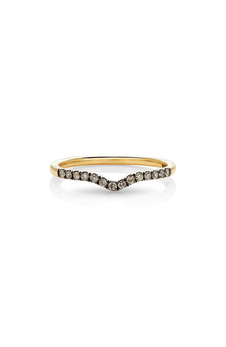 MANIAMANIA Unity Diamond Band Ring, Main, color, YELLOW GOLD