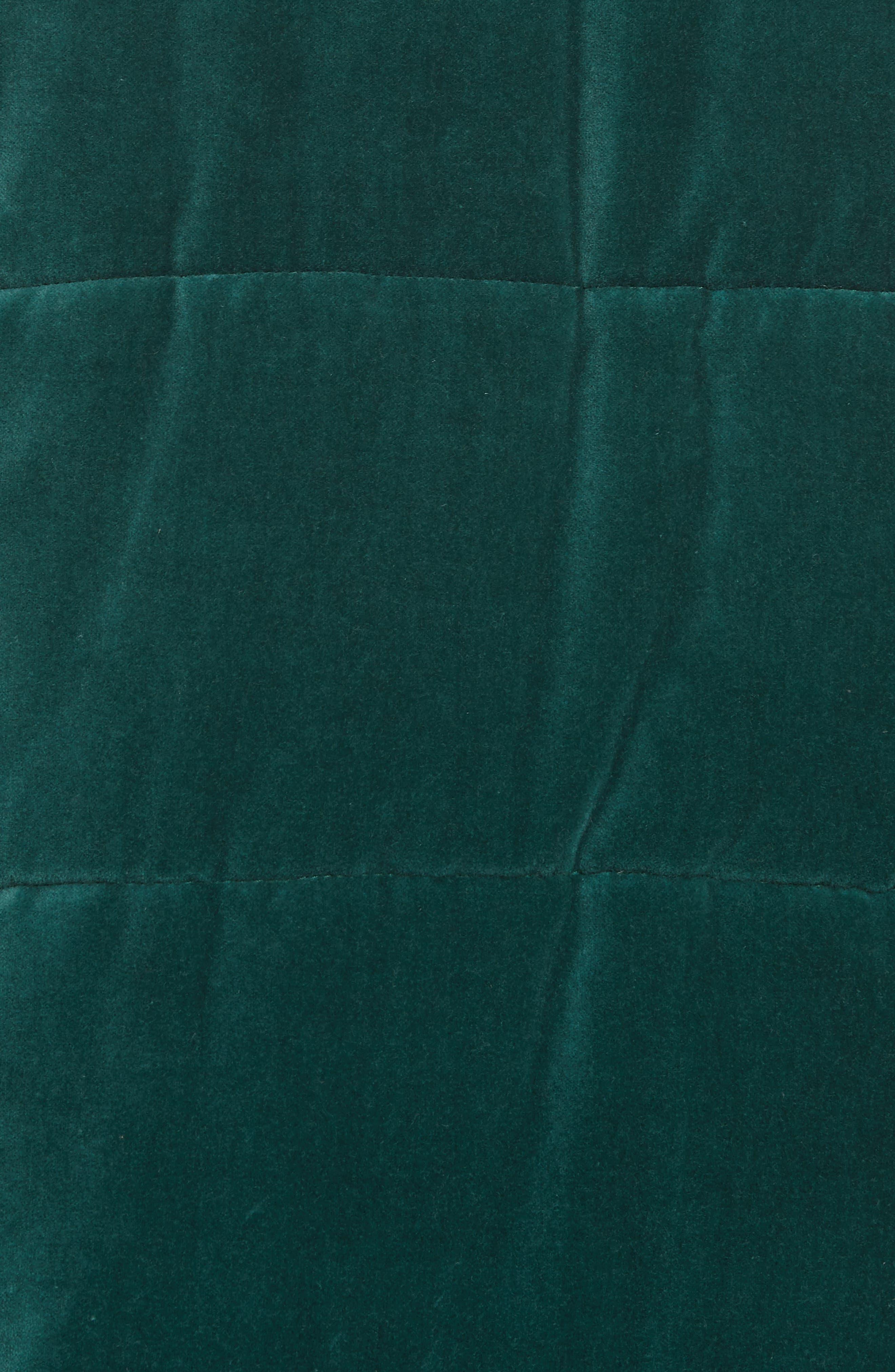 ,                             The Quilted Velvet Puffer Coat,                             Alternate thumbnail 5, color,                             300