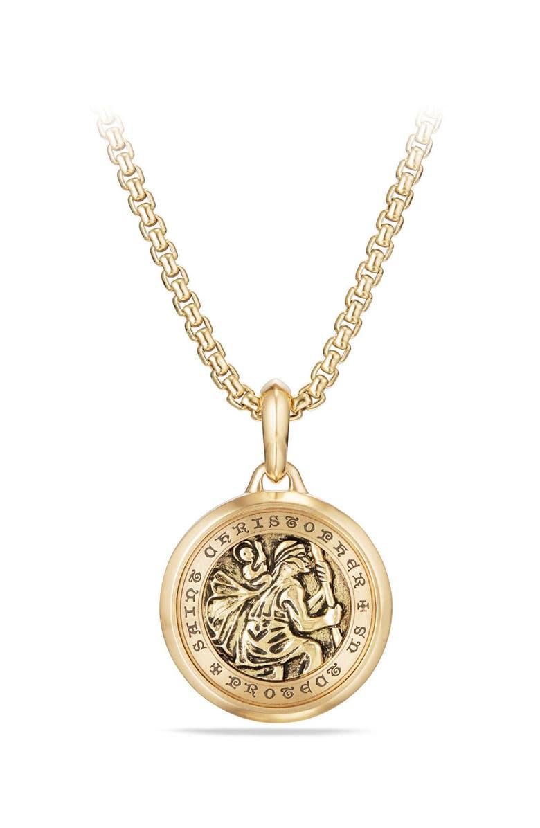DAVID YURMAN St. Christopher Amulet, Main, color, YELLOW GOLD