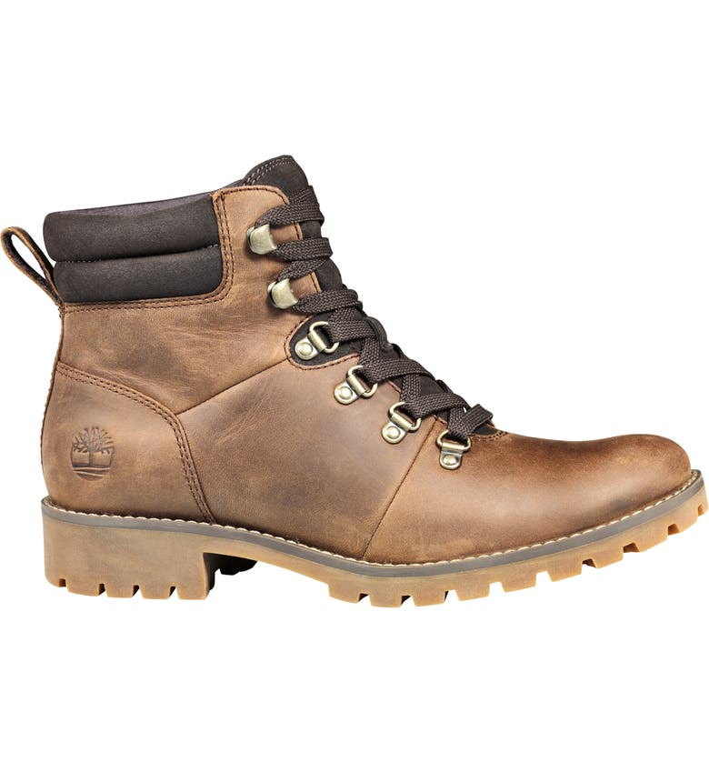 TIMBERLAND Ellendale Water Resistant Hiker Boot, Main, color, BROWN FULL GRAIN LEATHER