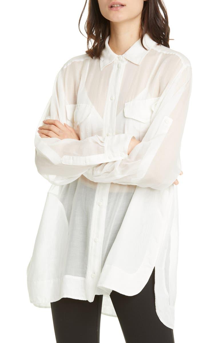 RAG & BONE Florian Sheer Tunic Shirt, Main, color, MAML