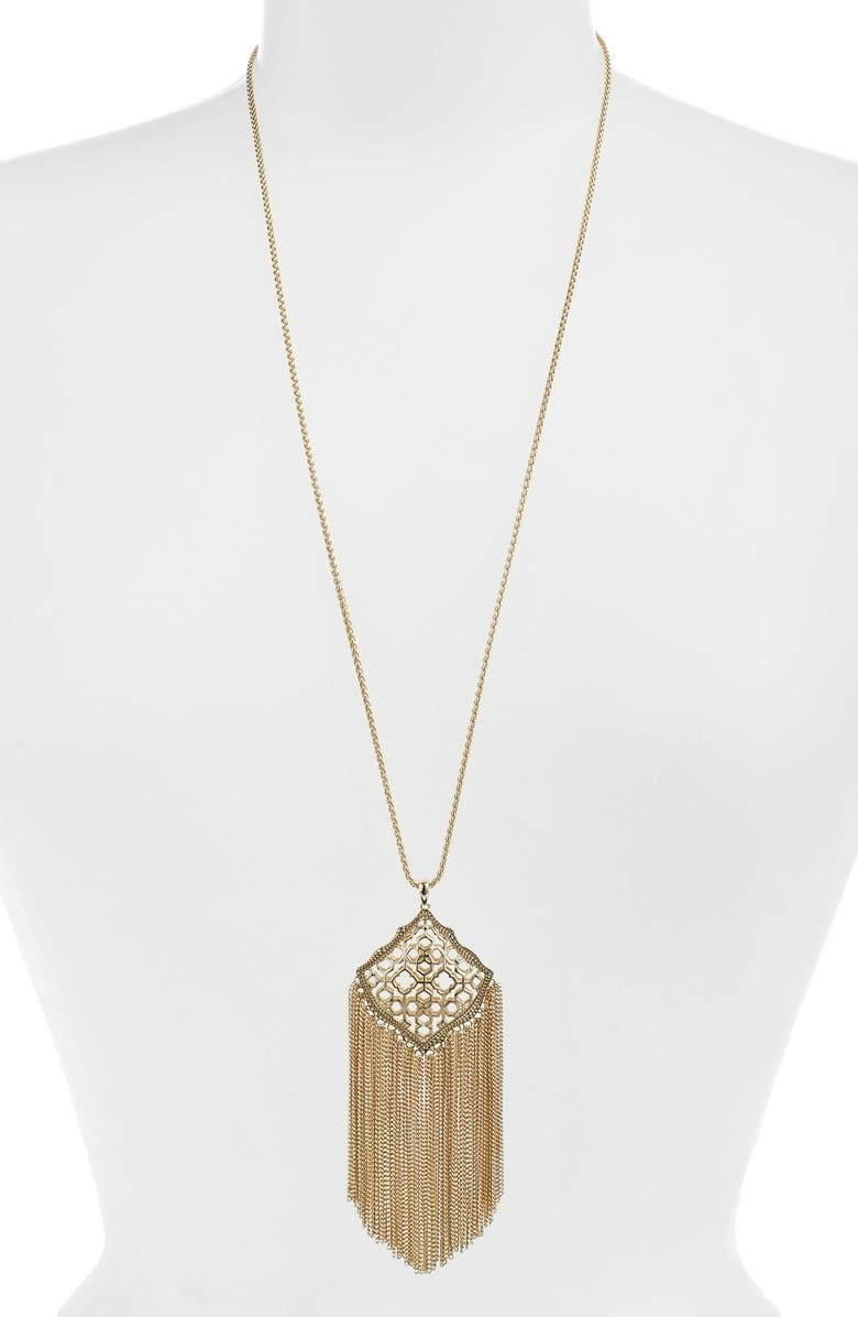 KENDRA SCOTT Kingston Adjustable Pendant Necklace, Main, color, GOLD FILIGREE