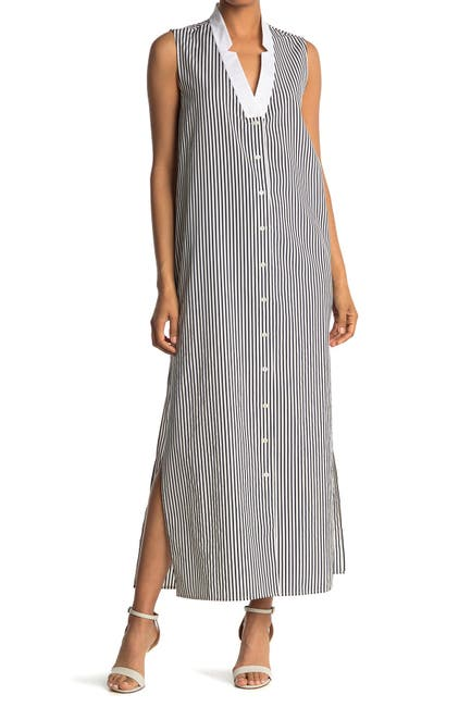 Image of BALDWIN Brock Stripe Print Maxi Dress