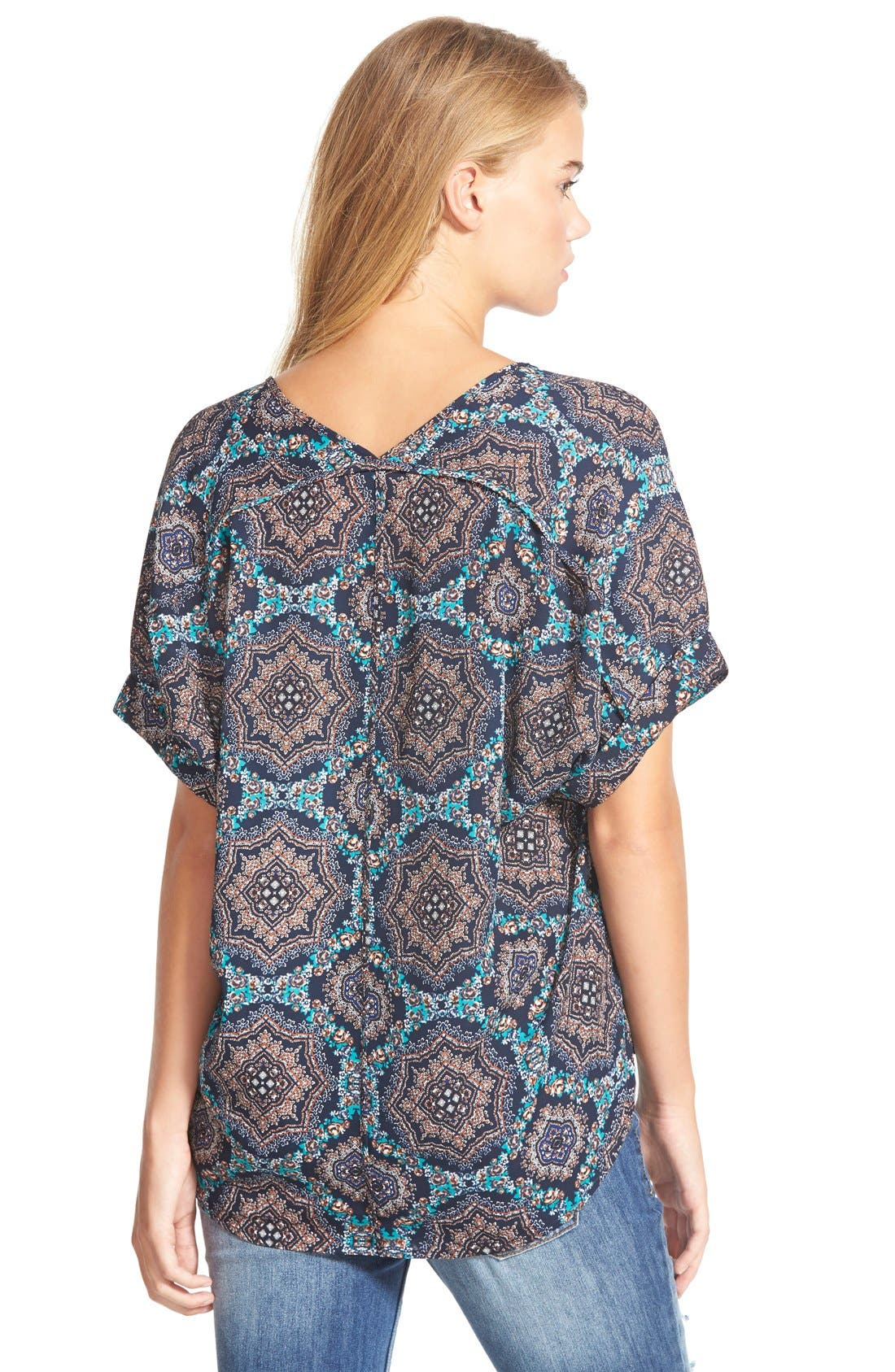 ,                             Lush Cuff Sleeve Woven Tee,                             Alternate thumbnail 111, color,                             433