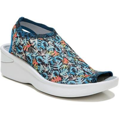 Bzees Secret Peep Toe Knit Sneaker, Blue
