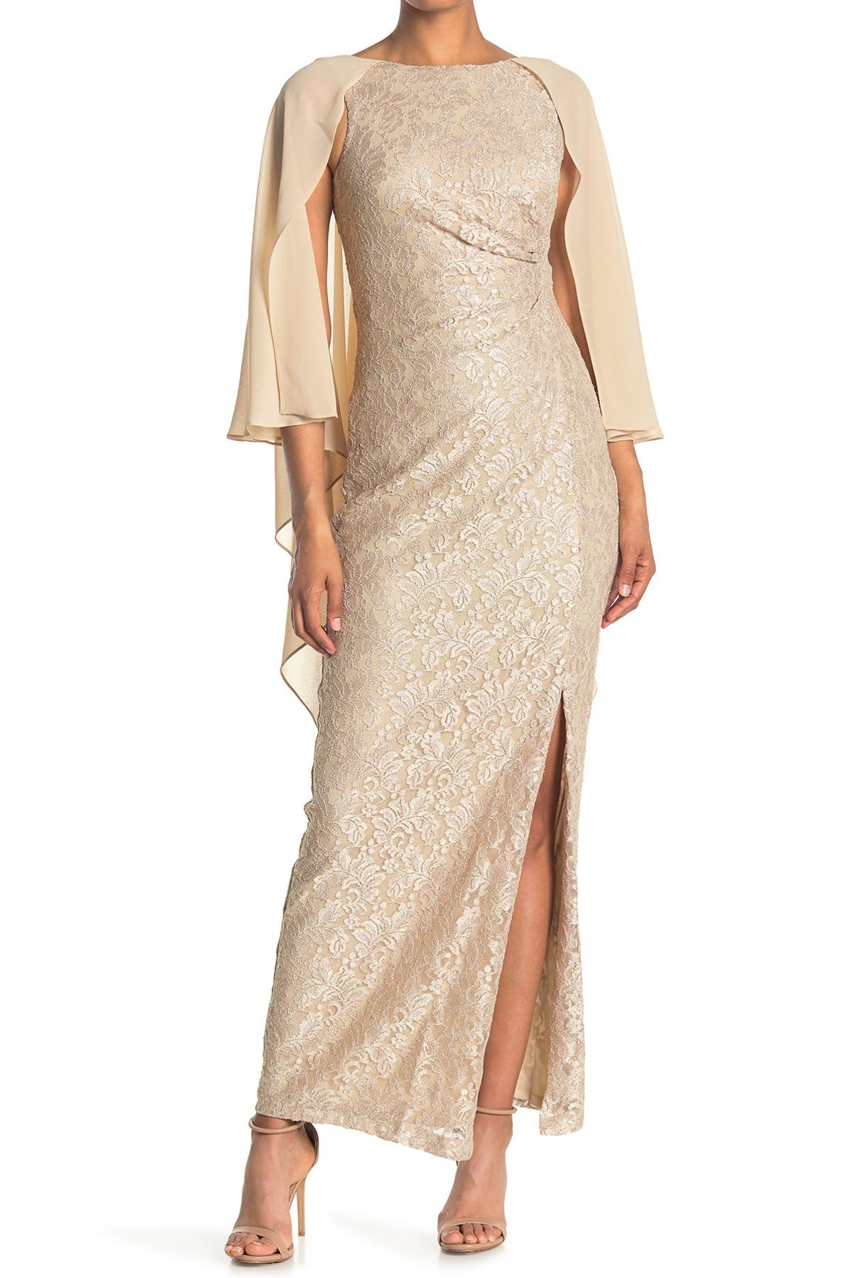 Image of Marina Long Slim Lace Gown