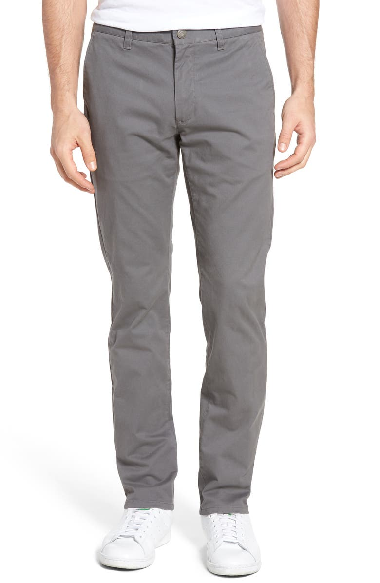 BONOBOS Tailored Fit Stretch Washed Cotton Chinos, Main, color, CASTLEROCK