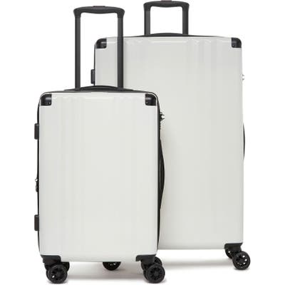 Calpak Ambeur 2-Piece Spinner Luggage Set - White