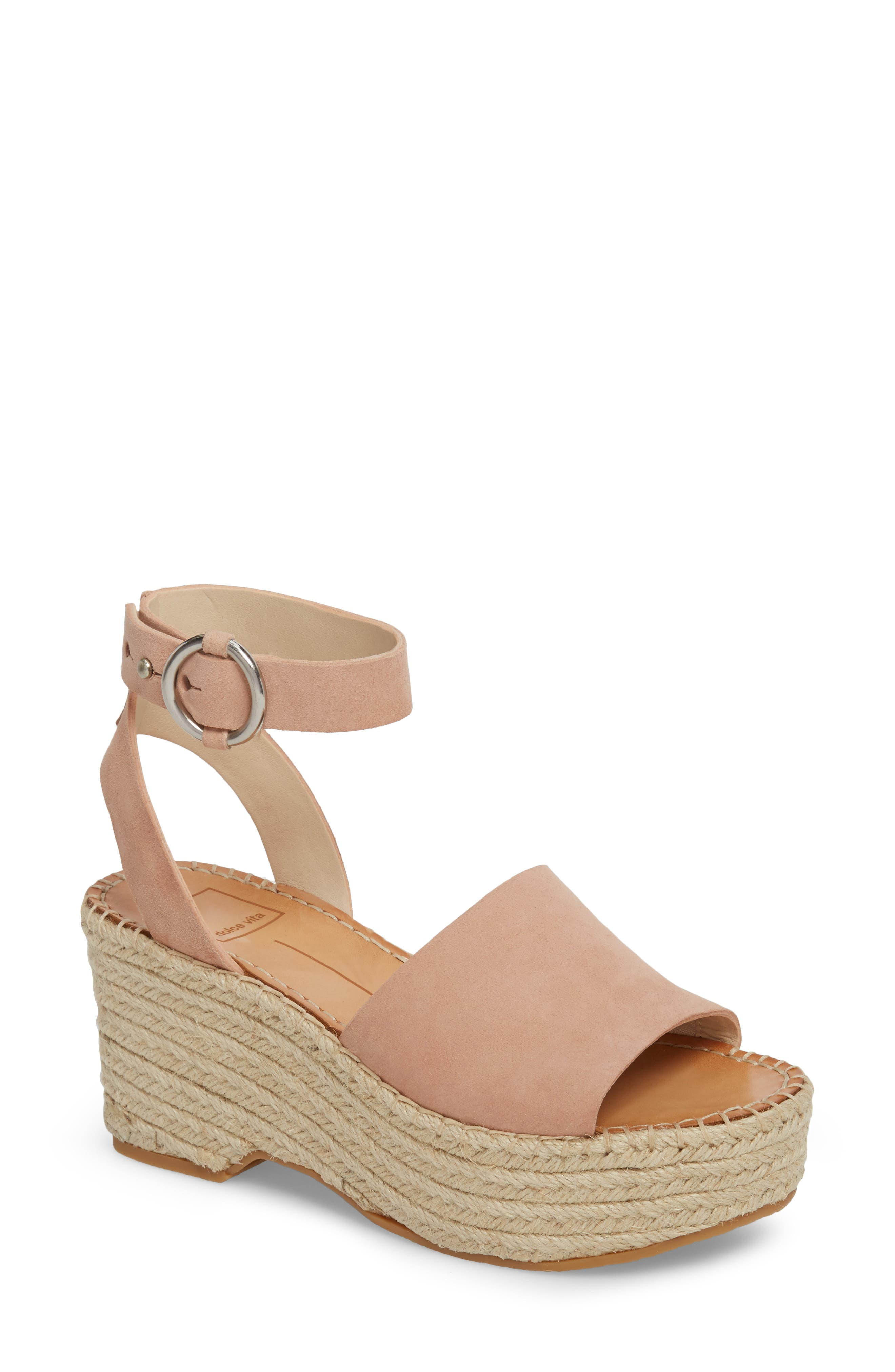 Dolce Vita Lesly Espadrille Platform Sandal- Pink