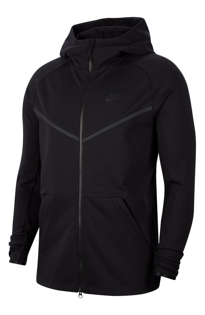 NIKE Zip Hoodie, Main, color, BLACK/ BLACK/ BLACK