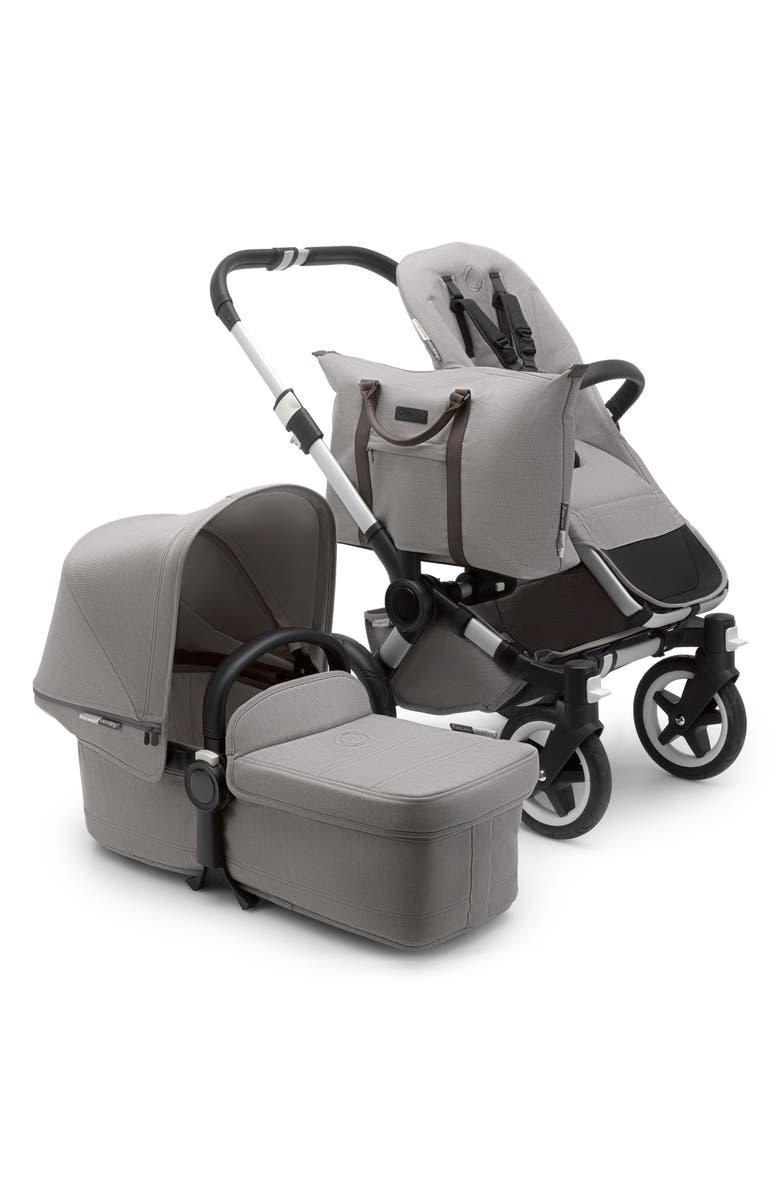 BUGABOO Donkey2 Mono Complete Stroller with Bassinet, Main, color, MINERAL LIGHT GRAY
