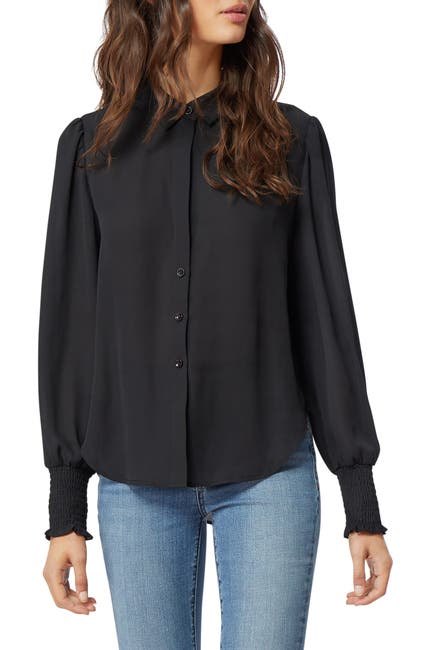 Image of Habitual Sage Smocked Cuff Shirt