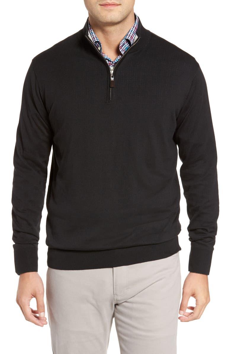 PETER MILLAR Crown Soft Quarter-Zip Pullover, Main, color, 001