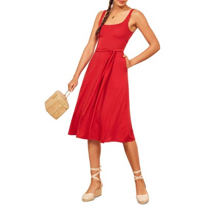 Reformation August Dress, Red