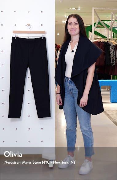 Organic Stretch Cotton Slit Hem Ankle Pants, sales video thumbnail