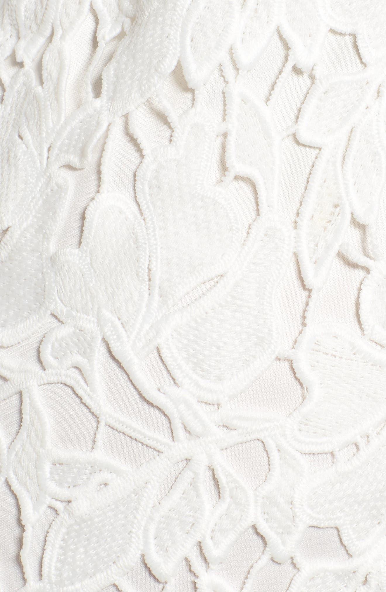 ,                             ASTR Lace Bodycon Dress,                             Alternate thumbnail 6, color,                             100