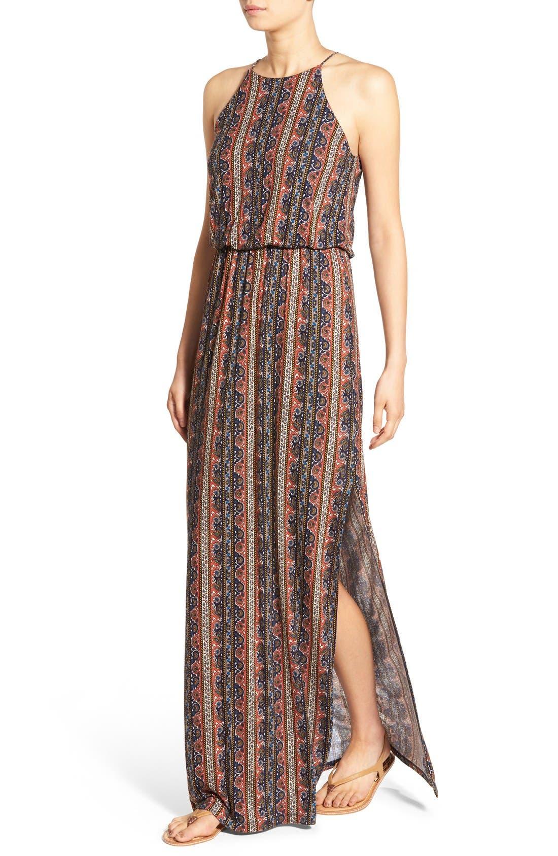,                             High Neck Maxi Dress,                             Alternate thumbnail 92, color,                             400
