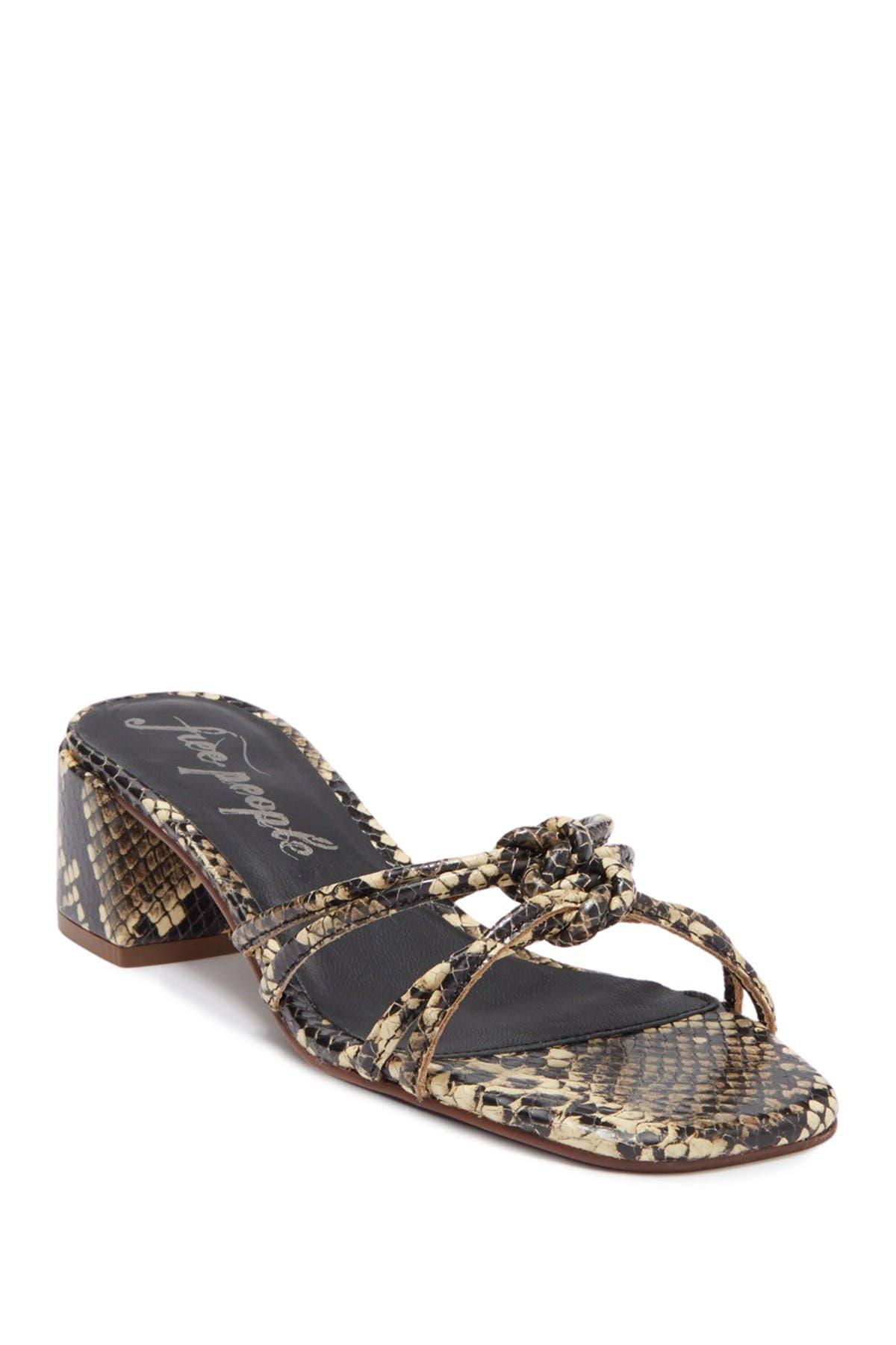 Image of Free People Petra Embossed Block Heel Sandal